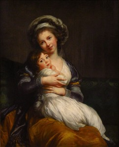 Self-portrait with her daughter Jeanne-Lucie, 1786.