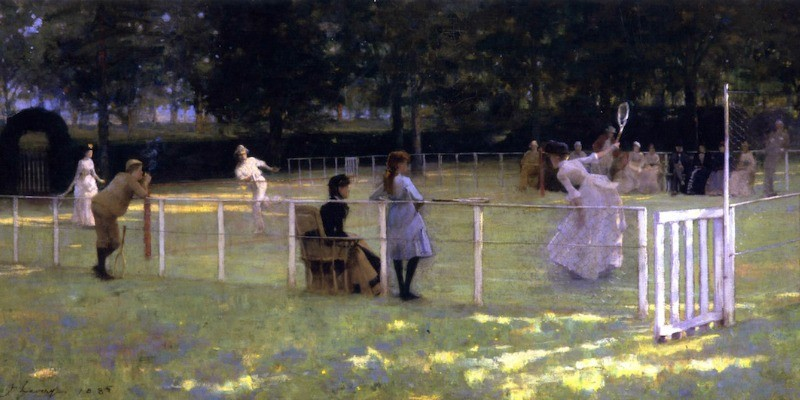 The Tennis Party by Sir John Lavery 800x400