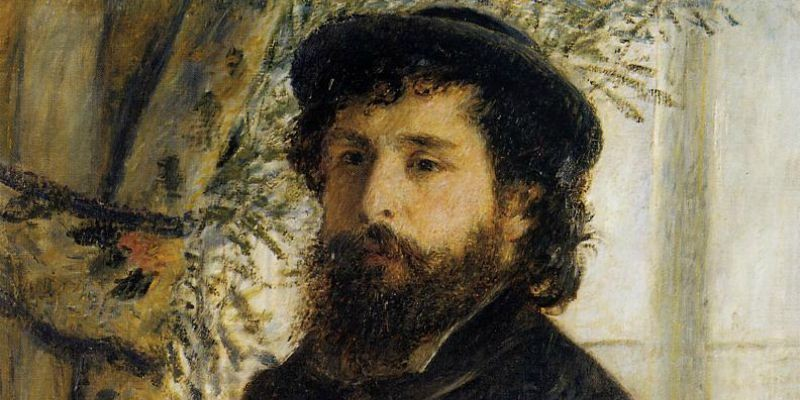 Claude Monet Painting by Heinrich Bürkel - 1875_800 x 400