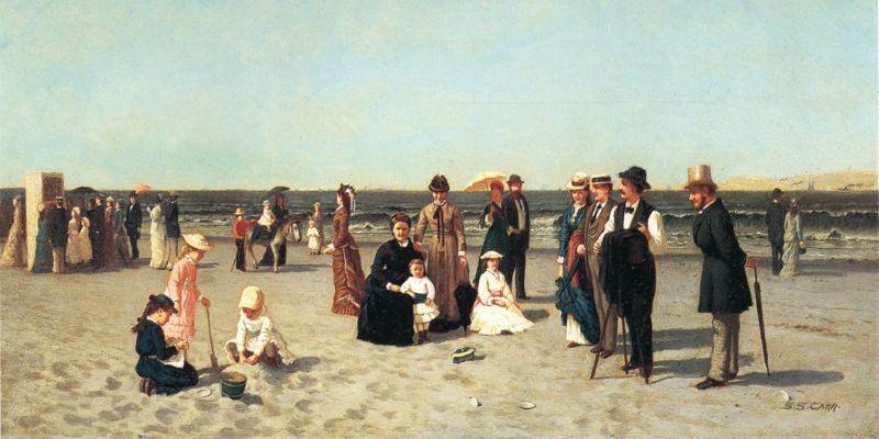 Beach Scene by Samuel S. Carr - circa 1879_800 x 400