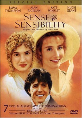 Sense and Sensibility with Kate Winslet, Hugh Grant, Emma Thompson, and Alan Rickman