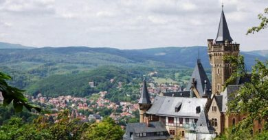 Wernigerode Castle in the Harz Mountains of Germany